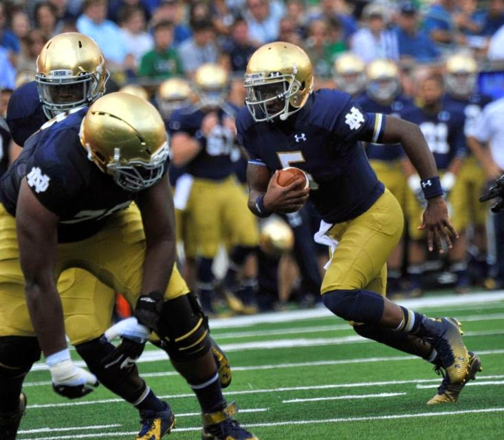News - Notre Dame beats Rice behind Everett Golson's big game