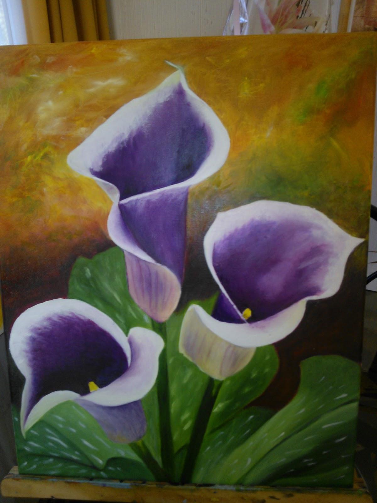 Calas pintadas en oleo manualidades de nina - Como pintar cuadros faciles ...