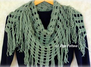 Triangular Scarf Crochet Pattern, $2.65