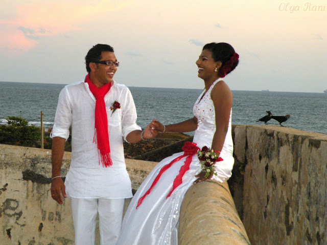Christian bride and groom, Sri Lanka