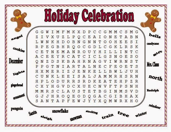 http://www.teacherspayteachers.com/Product/Christmas-Word-Puzzles-107342