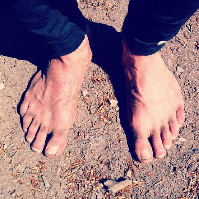 Bare feet on bare ground