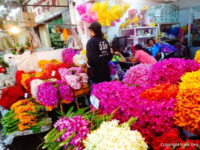 Bangkok life tha le march aux fleurs bangkok pak khlong talat - Refrigerateur le plus silencieux du marche ...