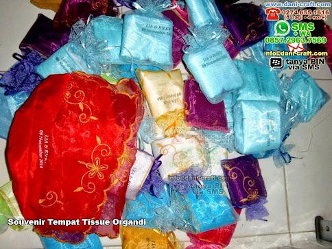 Souvenir Tempat Tissue Organdi Organdi Karawang