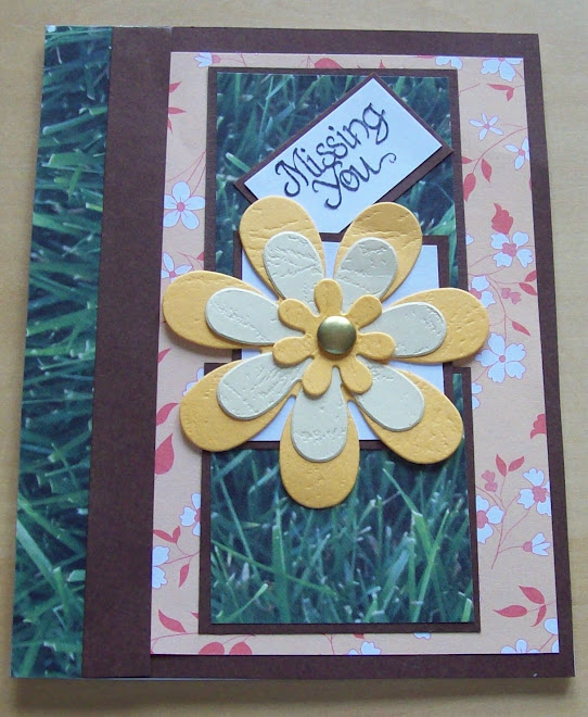 orange flowered paper and green grass paper were kind of hard to use together