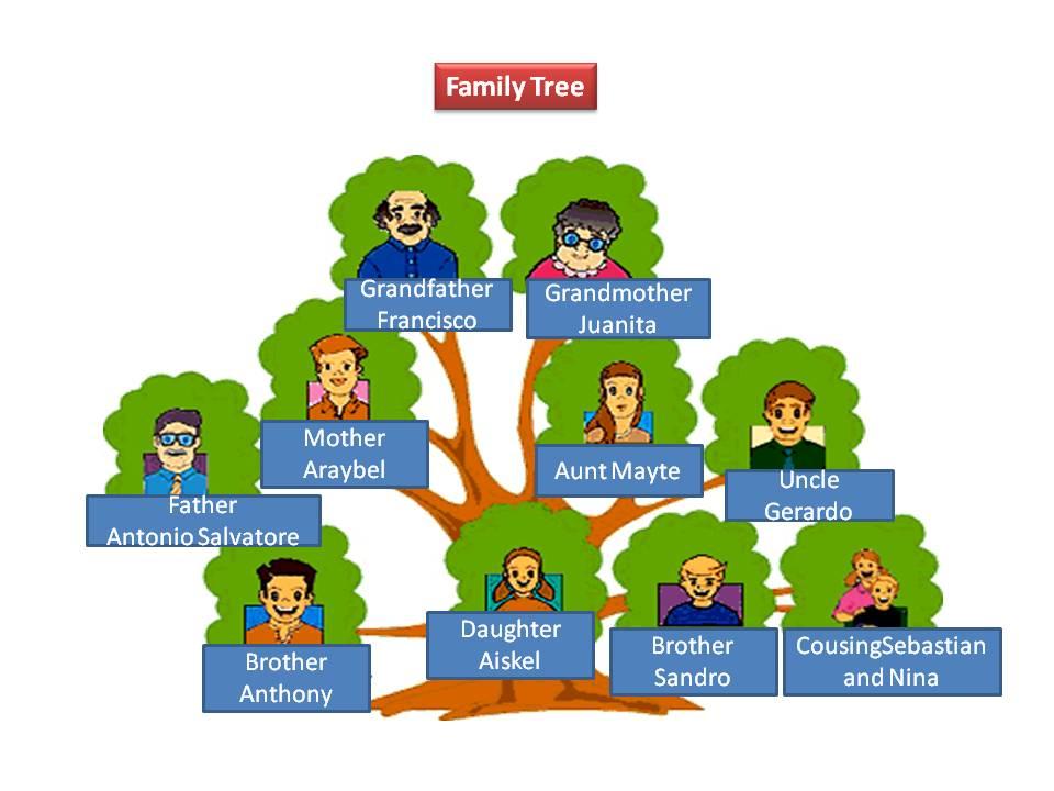 My family tree pictures for Nombres de arboles en ingles