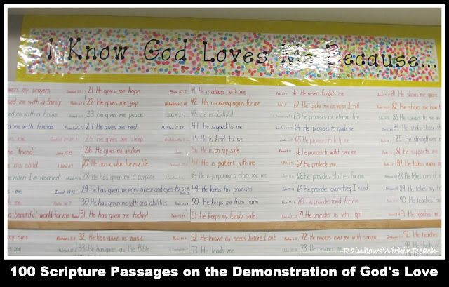 photo of: God's Love Bulletin Board: 100 Scripture Verses of God's Demonstrated Love