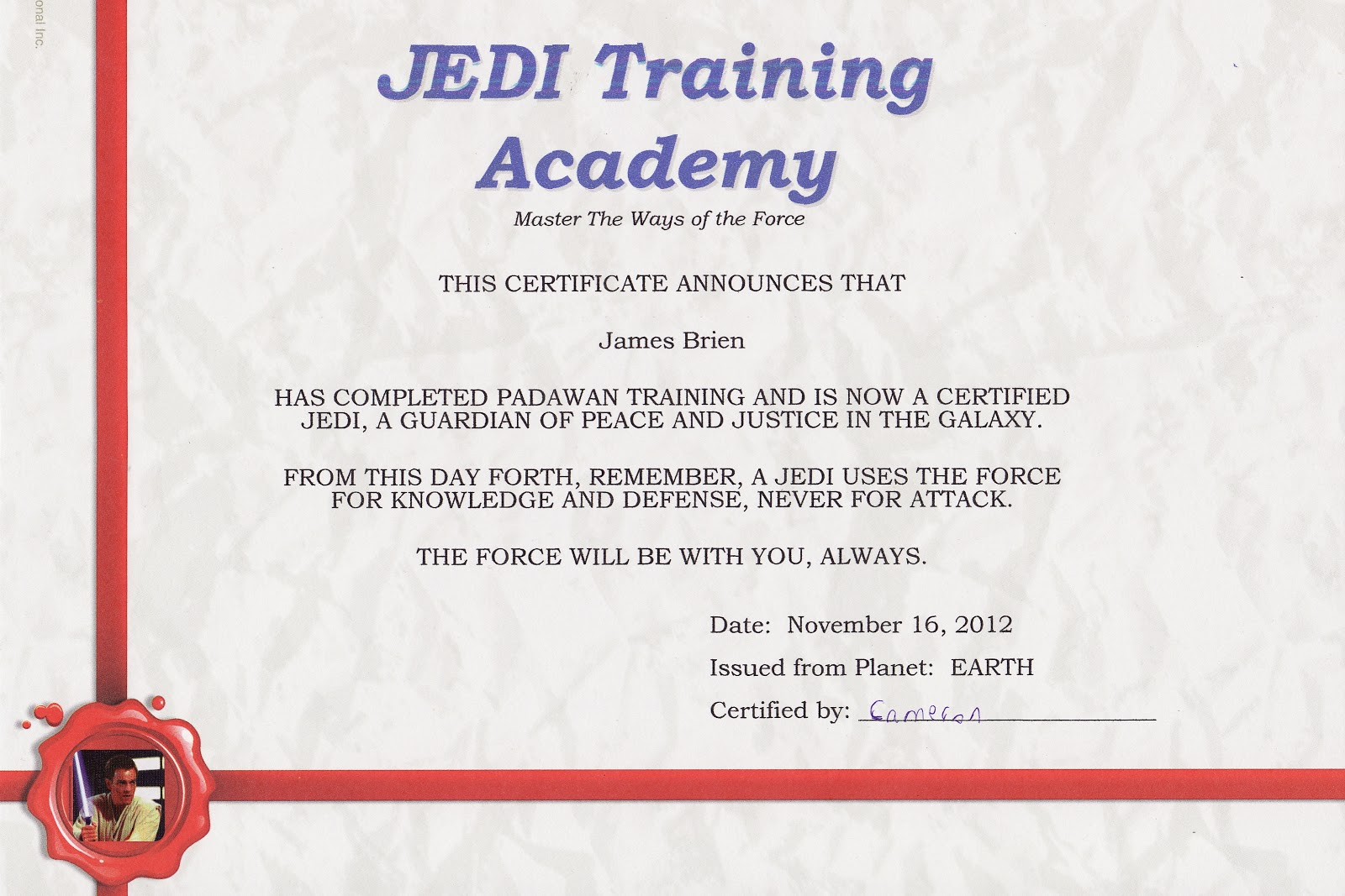 East coast mommy diy star wars party for Star wars jedi certificate template free
