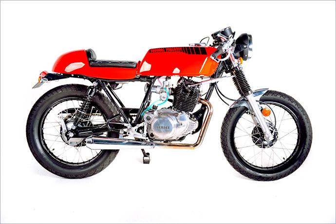 Racing caf yamaha sr 250 lunacy by garage project for Garage yamaha scooter