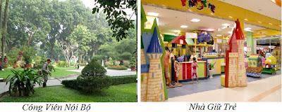 Công viên, nhà giữ trẻ