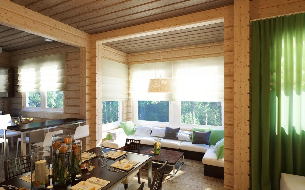Визуализация деревянного дома
