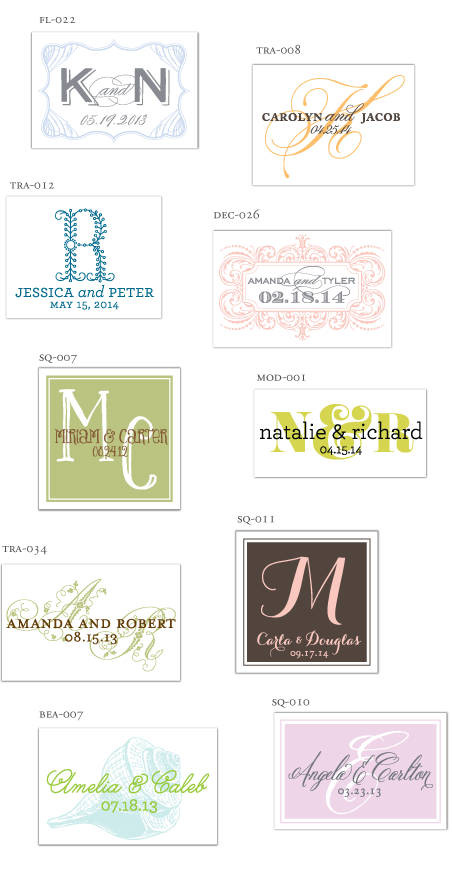 ready made monogram designs printable diy love logo wedding bride groom initials theme