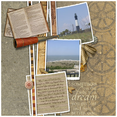 Crafty Colonel Donna Nuce for Club Scrap Navigation Blog Hop, Scrapbook page