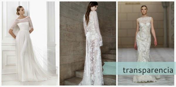 Vestido de novia totalmente transparente o con algunas transparencias como el palabra de honor velado