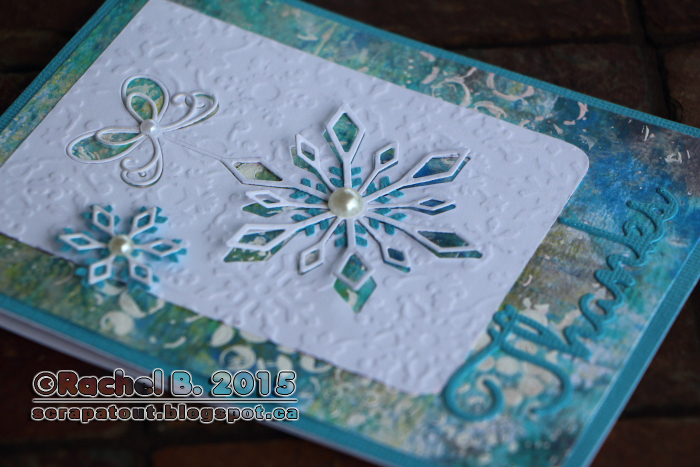 Memory Box, Impression Obsession, Snowflake, Thanks, Card