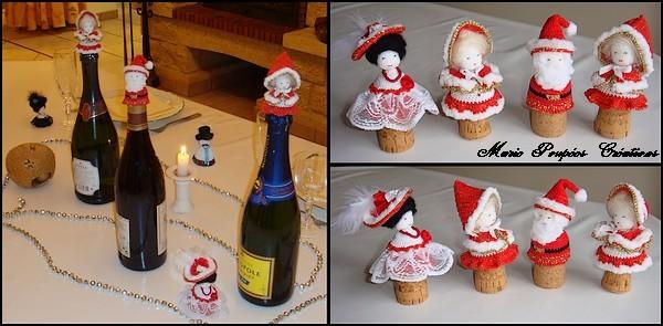 Tête au crochet pour décoration de Noël