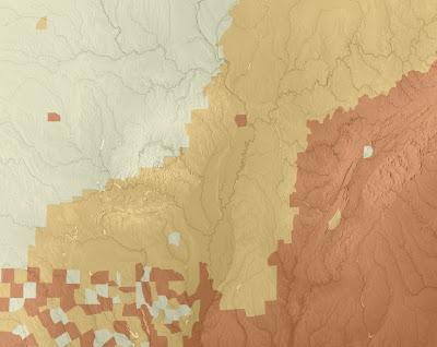 Mapa de elevaciones del terreno
