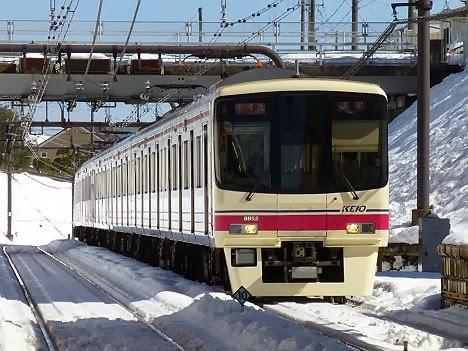 京王電鉄 準特急 高尾行き3 8000系(2014大雪のため日中運行)