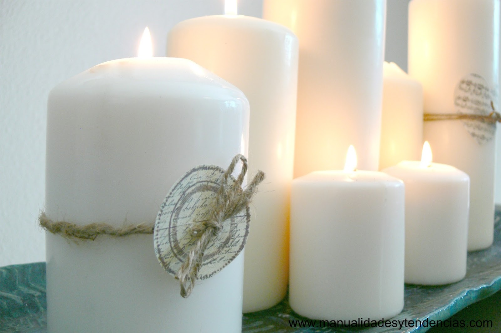 Decorar con velas candle decoration ideas handbox craft lovers comunidad diy tutoriales - Decorar con velas ...