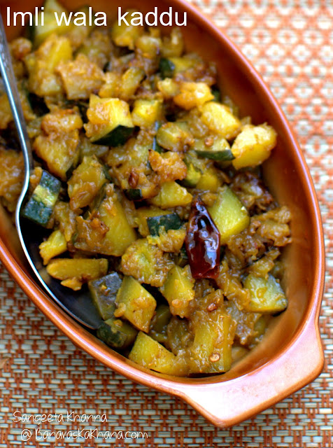 pumpkin stir fry with tamarind