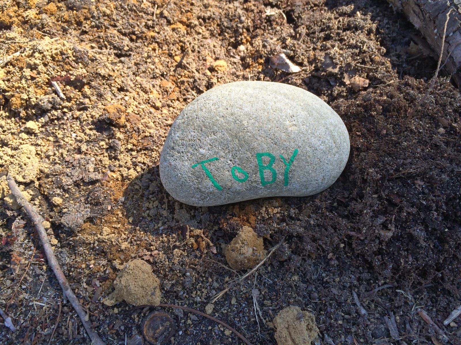 a memorial stone