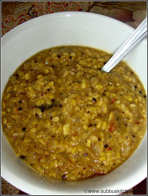 Vengaya Kootu (Onion Dal Stew)