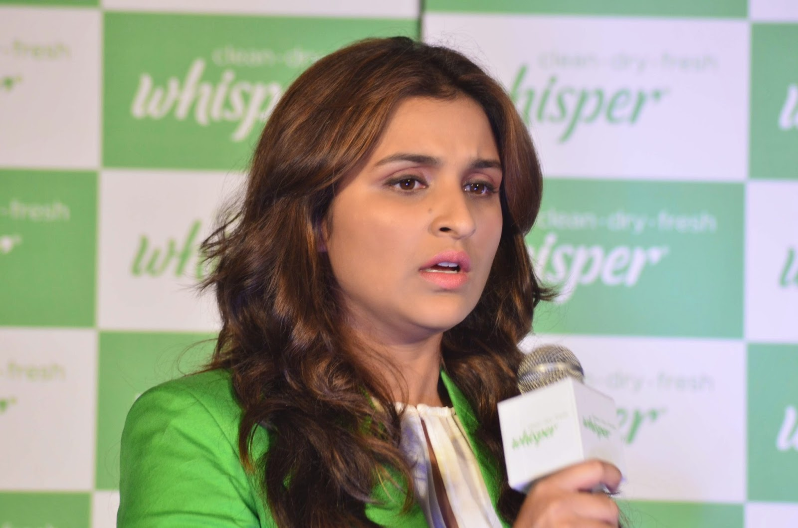 Parineeti Chopra unveils the all new Whisper campaign