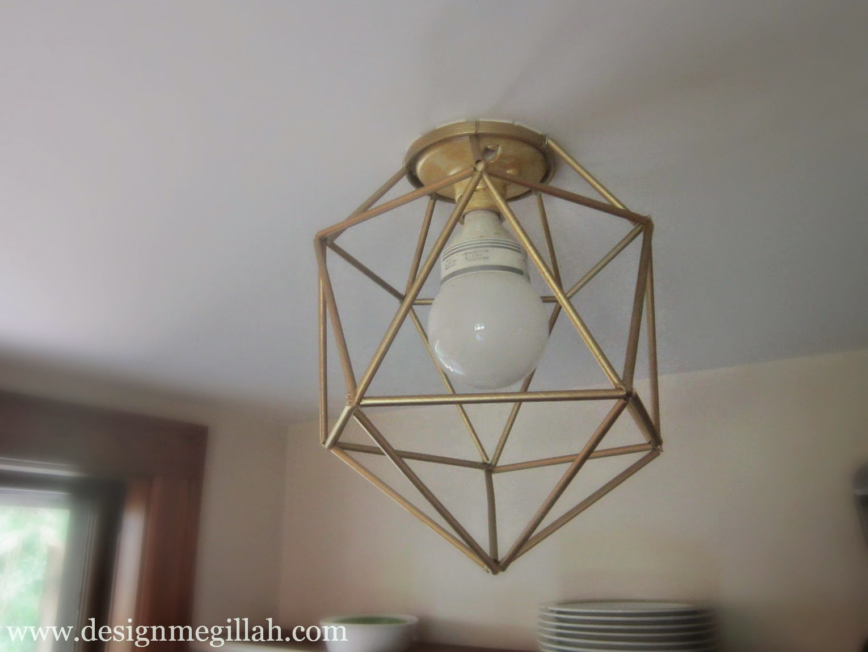 Paper Straw Light Fixture