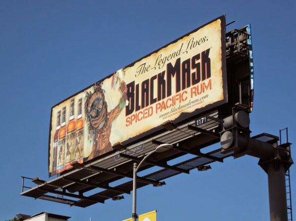 BlackMask Spiced Pacific Rum billboard