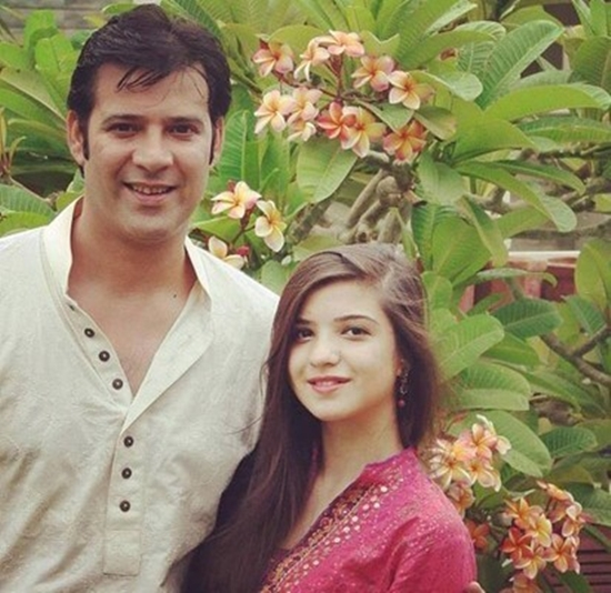 Moammar Rana with his daughter Rea