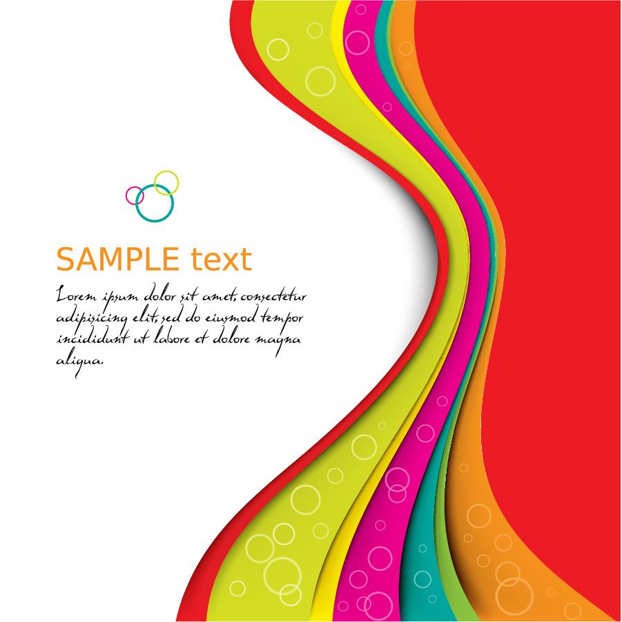 鮮やかな配色のダイナミックな曲線の背景 Symphony dynamic lines background イラスト素材2