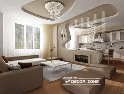 Nice Creative POP False Ceiling Designs For Living Room Part 32