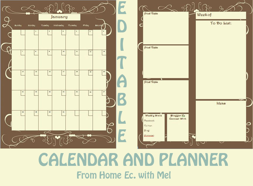 Calendar Home Planner : Home ec with mel week in review may june