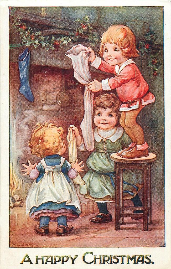 Винтажные открытки рождественские 92