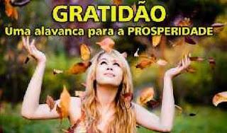 Gratidão e prosperdidade