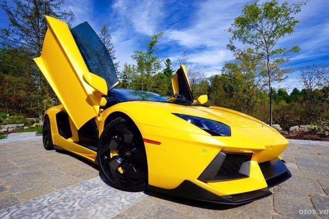 Ngắm xe Lamborghini Aventador độ body kit Vorsteiner