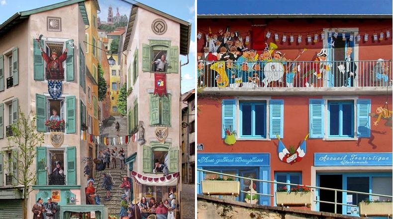 Falsas Fachadas: Inteligente arte callejero de Patrick Commecy