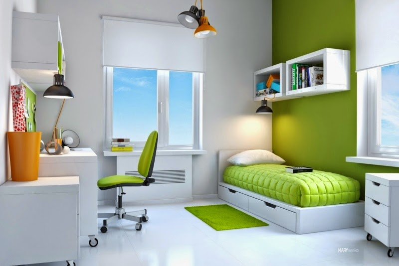22 beautiful ideas for kids room decorating for teen boys - Beautiful pictures of lime green bedroom decoration design ideas ...
