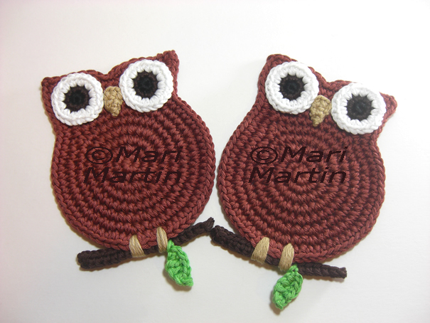 Another Lovely Owls Coasters ~ Crochet Colorful