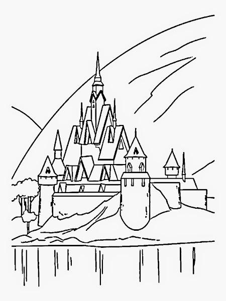 Frozen Ice Castle Coloring Pages