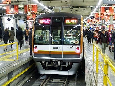 東急東横線 通勤特急 元町・中華街行き 10000系@渋谷地上駅