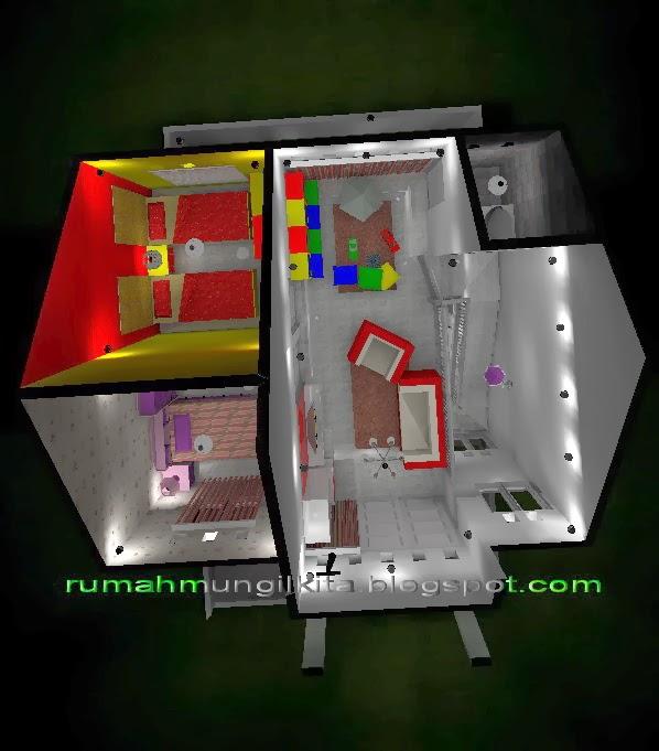 renovasi rumah tipe 45 tanah 84m2 2 lantai 4 kamar tidur