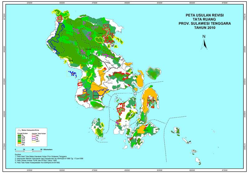 lekadnews peta rutr provinsi sulawesi tenggara