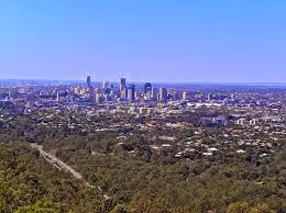 View over Brisbane from Mt Cootha