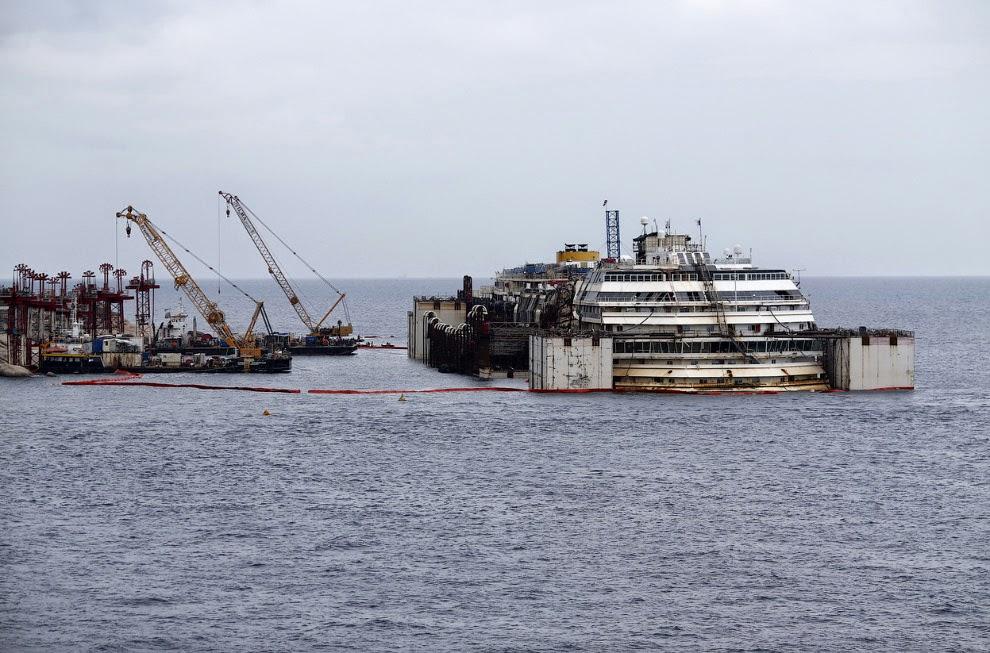 Последнии дни лайнера Costa Concordia
