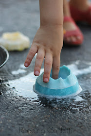 Ice volcanoes are easy to make and a fun science and play activity for kids of any age.