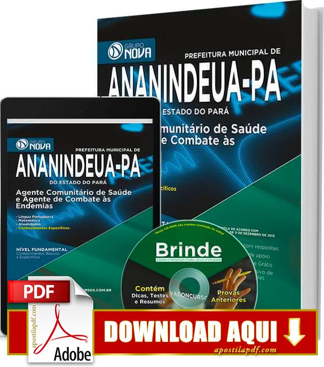 Apostila Prefeitura de Ananindeua 2015 PDF Download Grátis