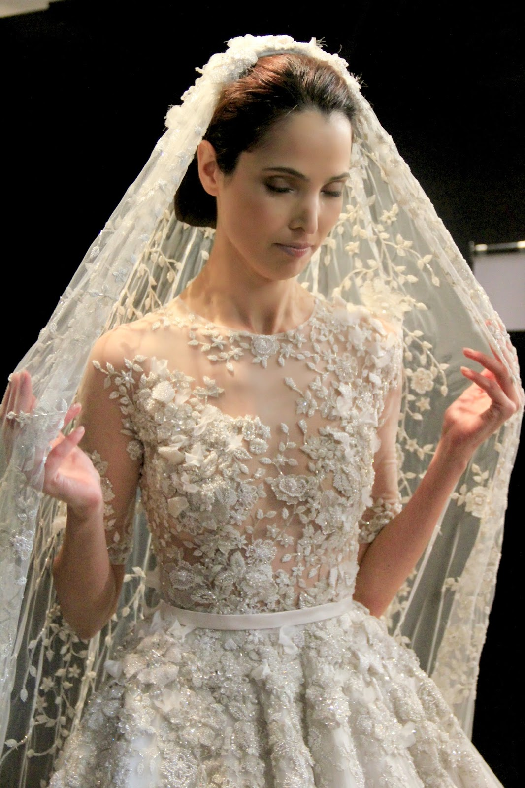 The bride signorfandi for Ralph and russo wedding dress