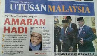 IKTIBAR ARAB SPRING: POLITIK MATANG DAN SEJAHTERA - HADI AWANG