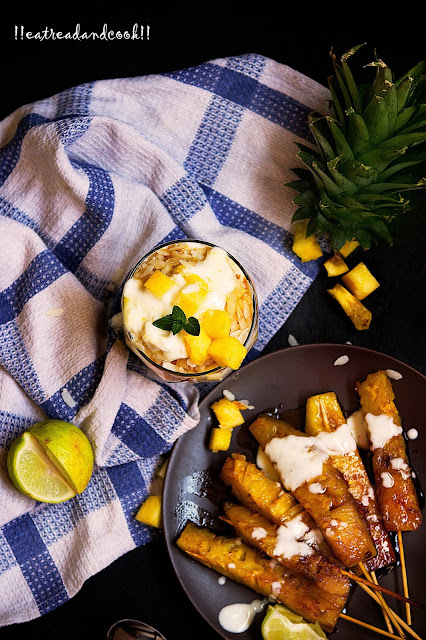 cramelized pineapples with yogurt recipe
